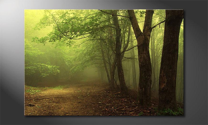 Das Leinwandbild Green Forest