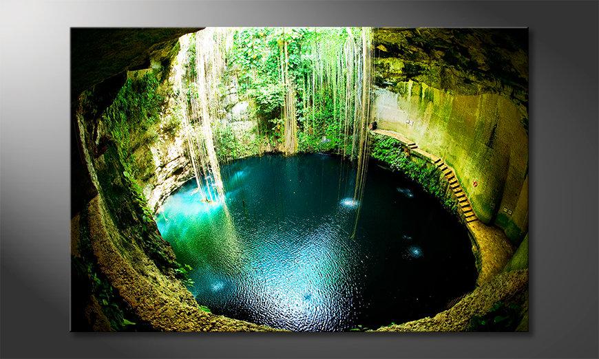Das Leinwandbild Ik Kil Cenote