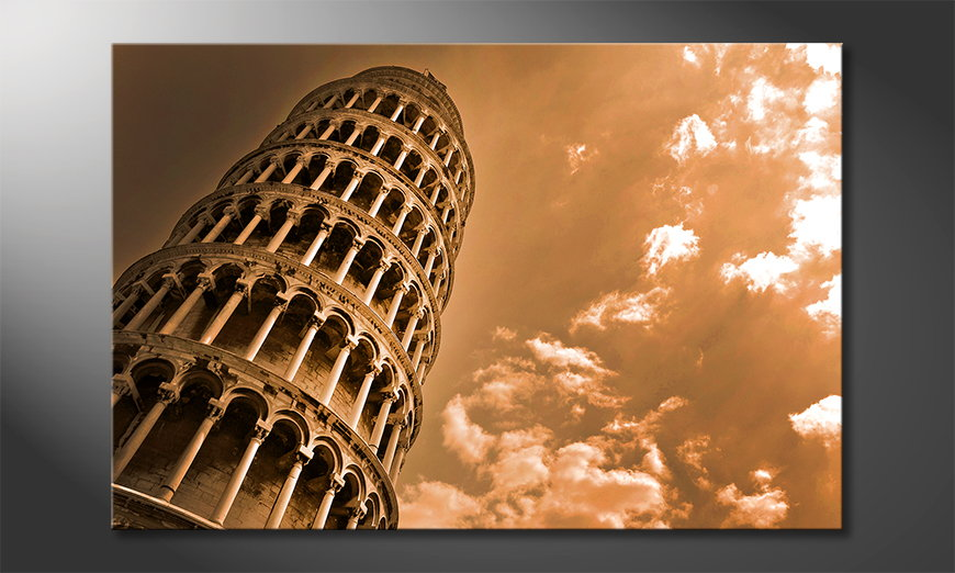 Das Leinwandbild Leaning Tower