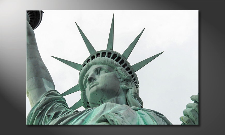 Das Leinwandbild Liberty