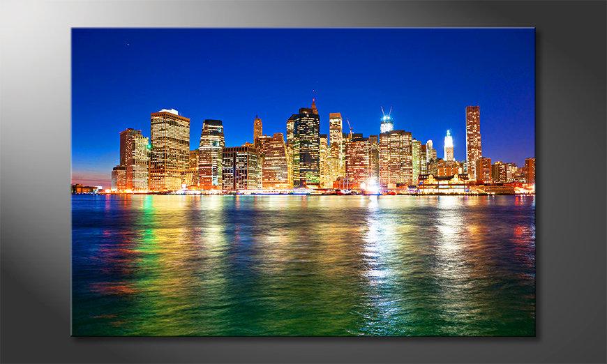 Das Leinwandbild Manhattan Metropolis