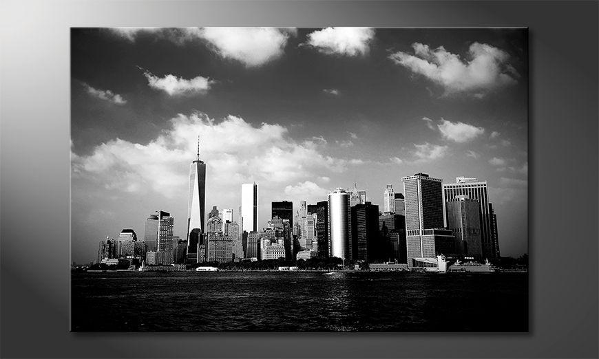 Das Leinwandbild Manhattan Skyscrapers