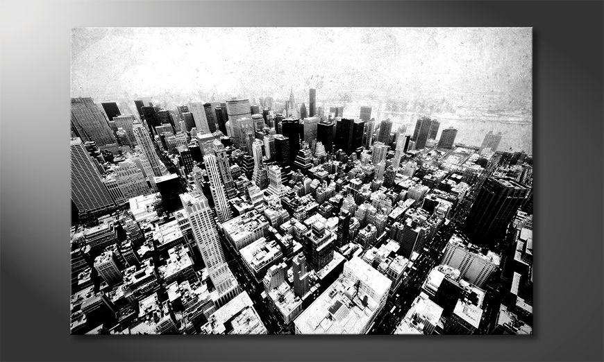 Das Leinwandbild New York Vintage