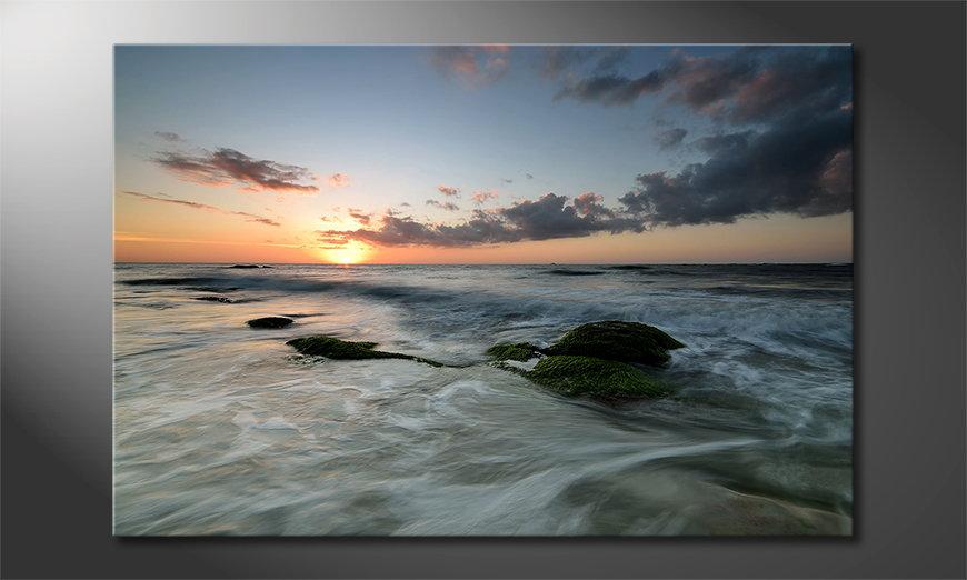 Das Leinwandbild Ocean Sunset