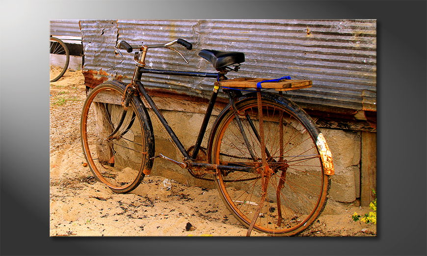 Das Leinwandbild Old Bicycle