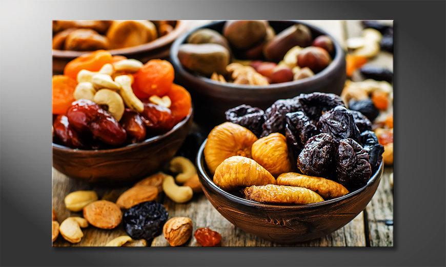 Das Leinwandbild Oriental Snacks