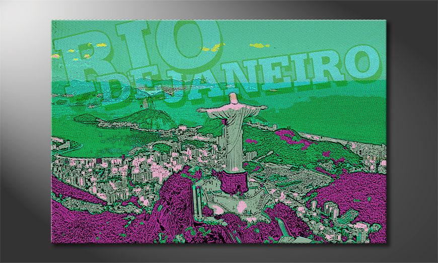 Das Leinwandbild Rio de Janeiro