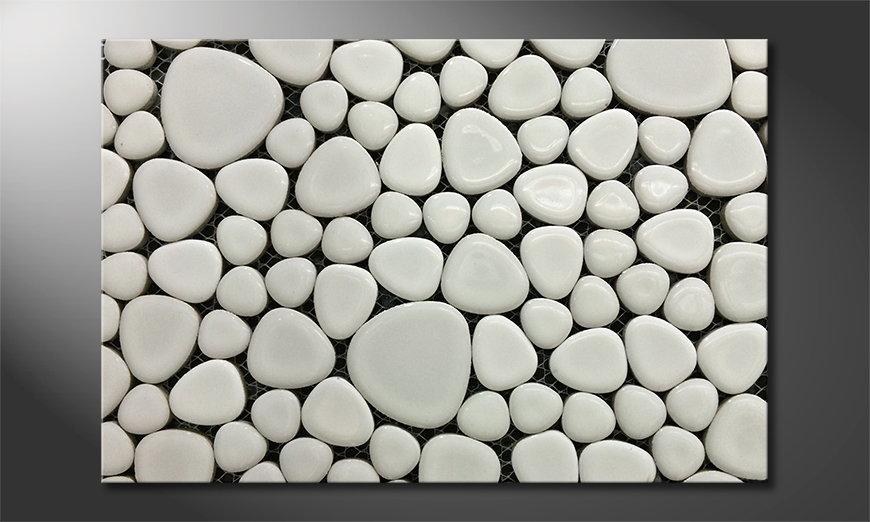 Das Leinwandbild Stones Mosaic