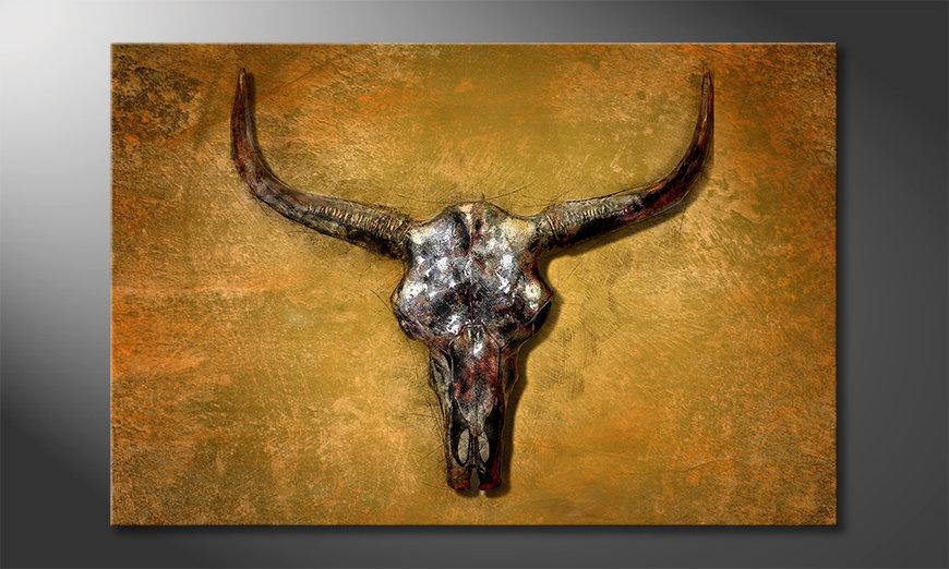 Das Leinwandbild Texas Buffalo