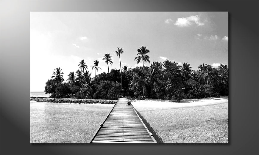 Das Leinwandbild Tropical Maldives