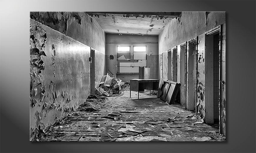 Das Wandbild Abandoned Office