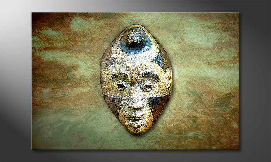 Das Wandbild Afro Head