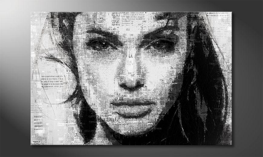 Das Wandbild Angelina in verschiedenen Größen