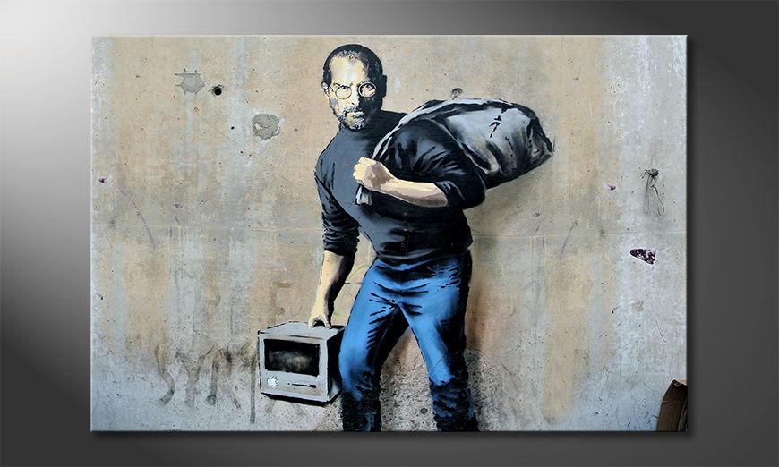 Das Wandbild Apple Steve