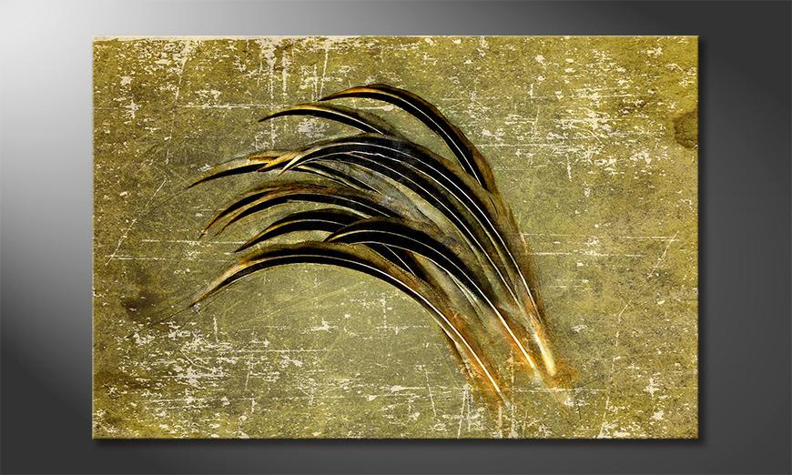Das Wandbild Bent By The Wind
