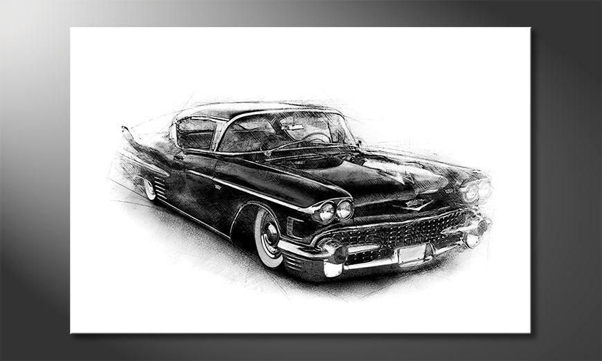 Das Wandbild Black Car