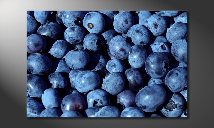 Das-Wandbild-Blueberries