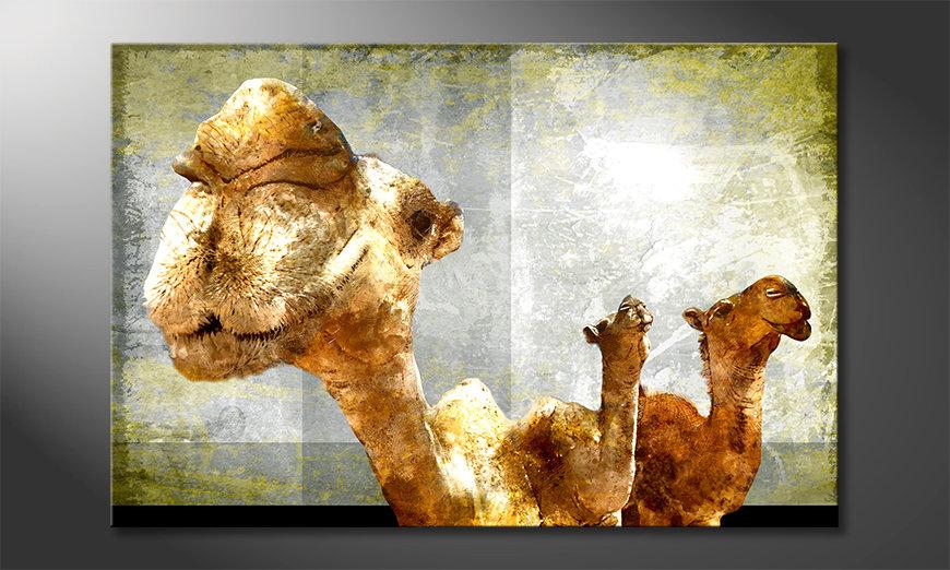 Das Wandbild Camel Gang