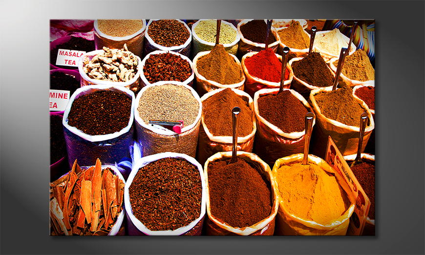 Das Wandbild Colorful Spices