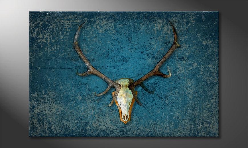 Das Wandbild Deer Head