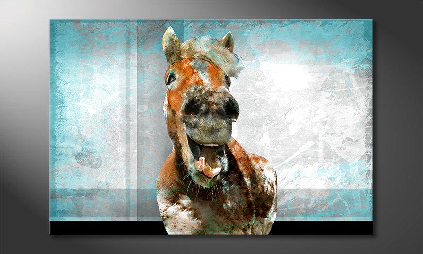 Das Wandbild Happy Horse