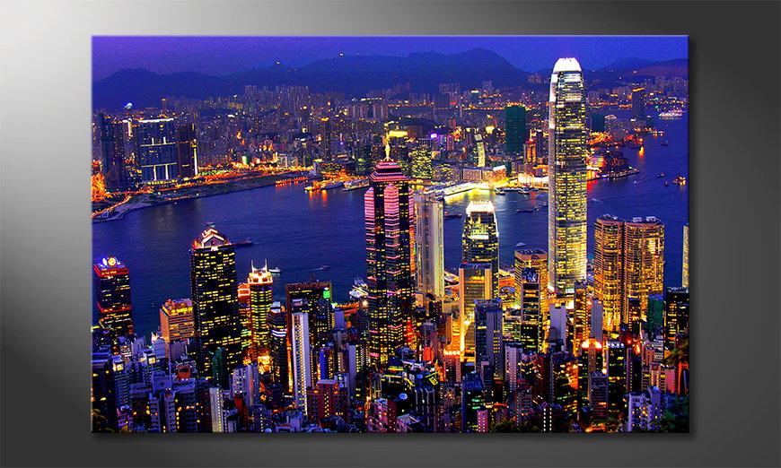 Das Wandbild Hongkong View