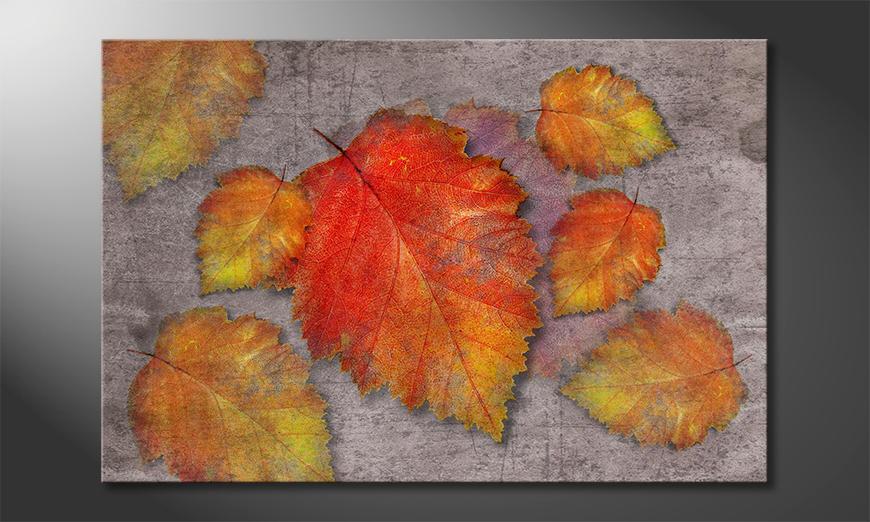 Das Wandbild Leaves