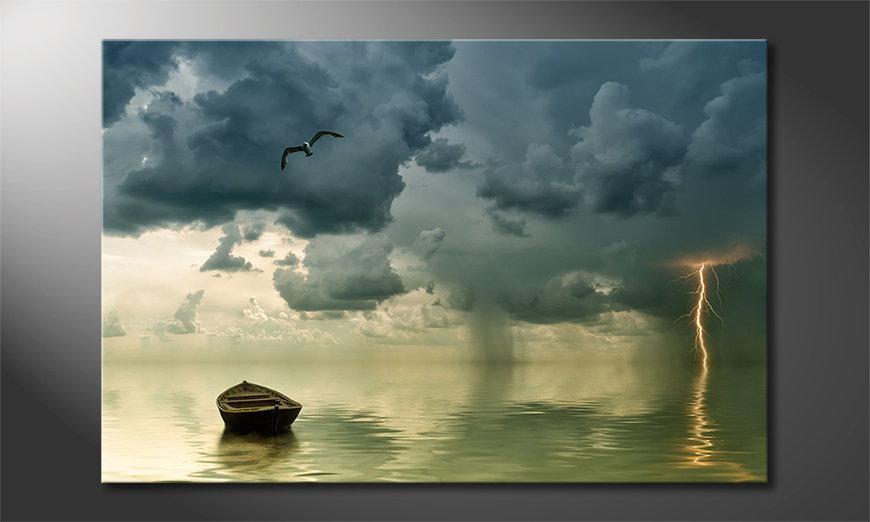 Das Wandbild Lonely Boat