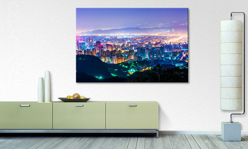 Das Wandbild Magic Taipeh