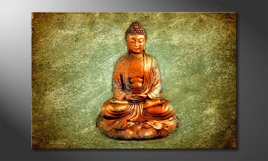 Das Wandbild Meditation