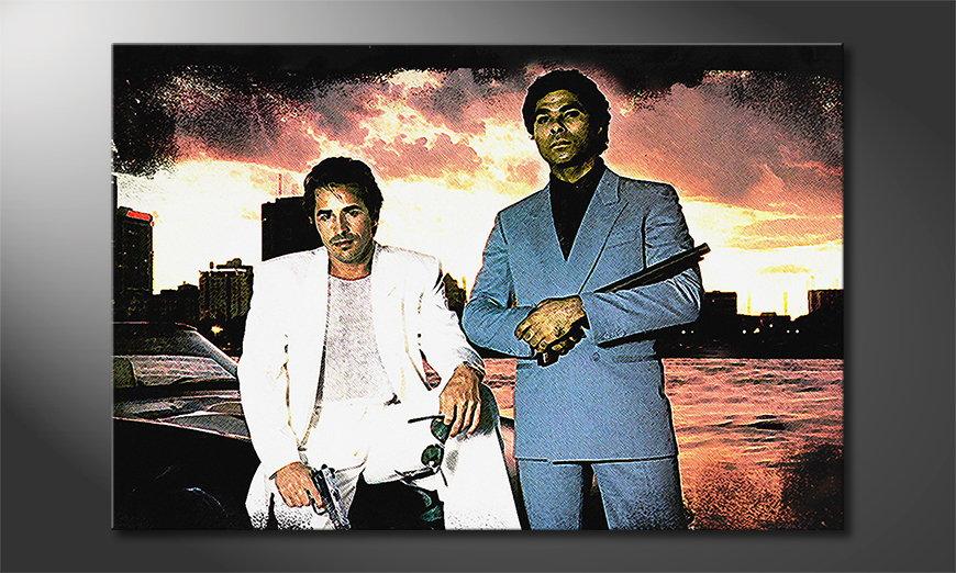 Das Wandbild Miami Vice Moment
