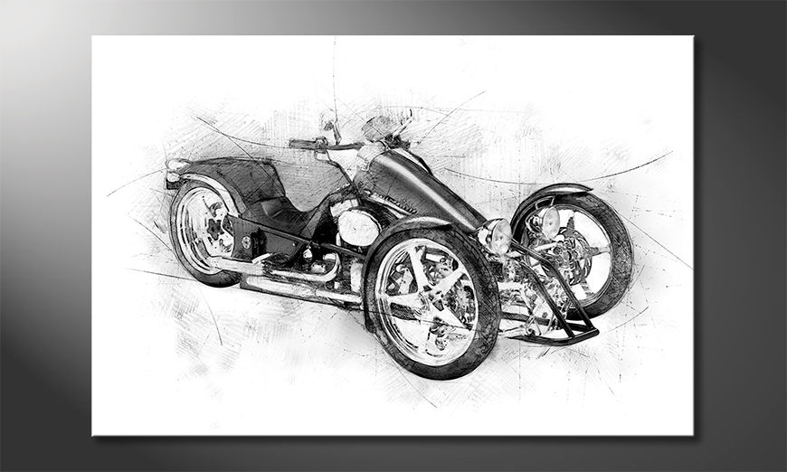 Das Wandbild Motorcycle Five