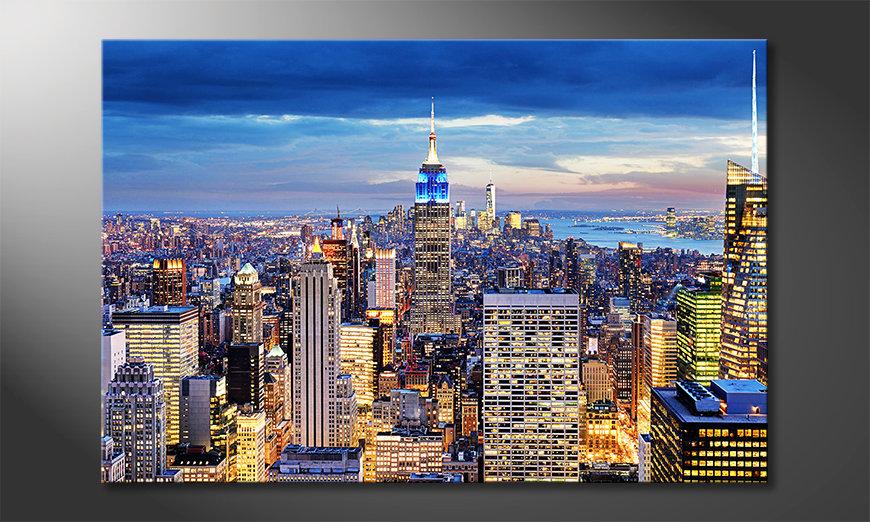 Das Wandbild NY City