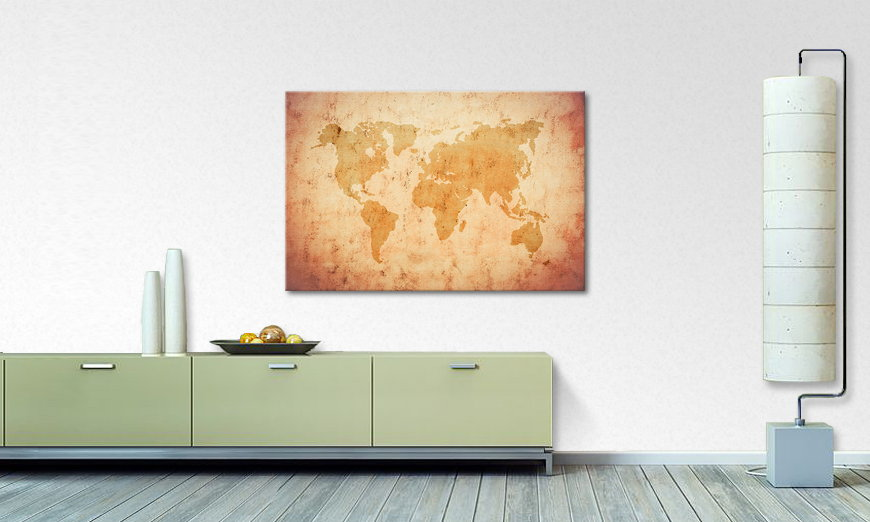 Das Wandbild Old Worldmap