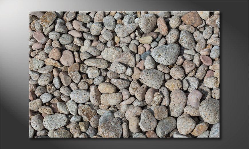 Das Wandbild Pebble Stones