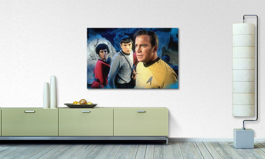 Das Wandbild Star Trek Enterprise 120x80cm