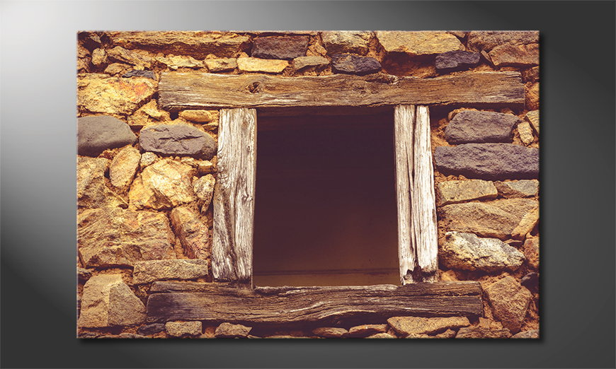 Das-Wandbild-Wooden-Window