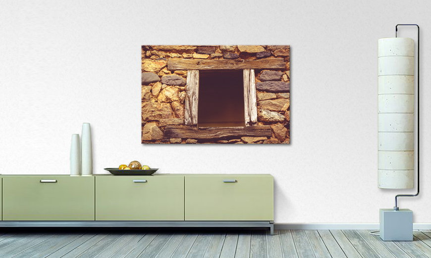 Das Wandbild Wooden Window