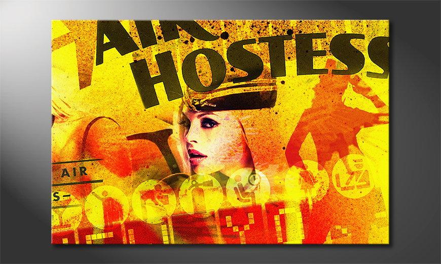 Das abstrakte Wandbild Air Hostess