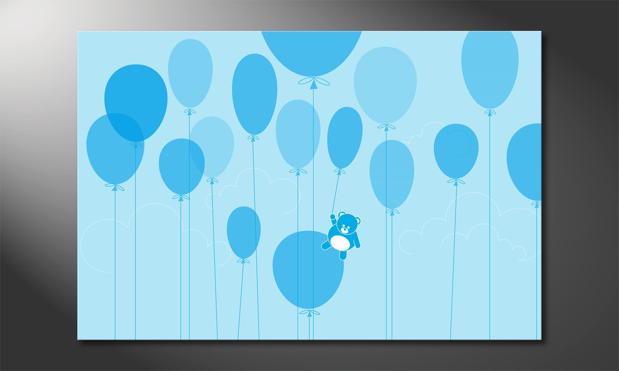 das coole wandbild balloons wandbilder xxl. Black Bedroom Furniture Sets. Home Design Ideas