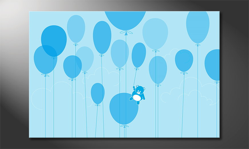 Das coole Wandbild Balloons