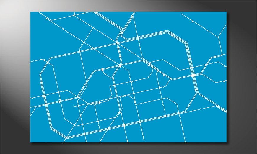 Das coole Wandbild Metro Berlin