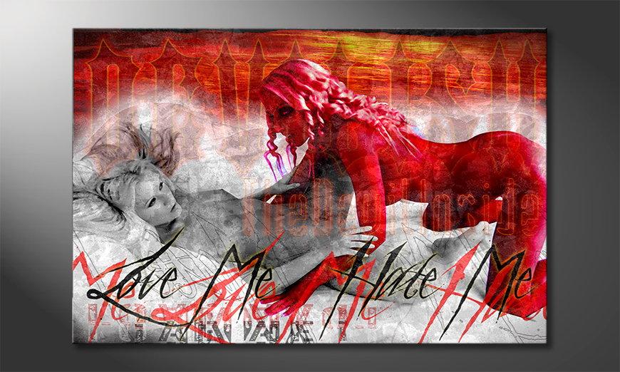 Das erotische Wandbild Devilish