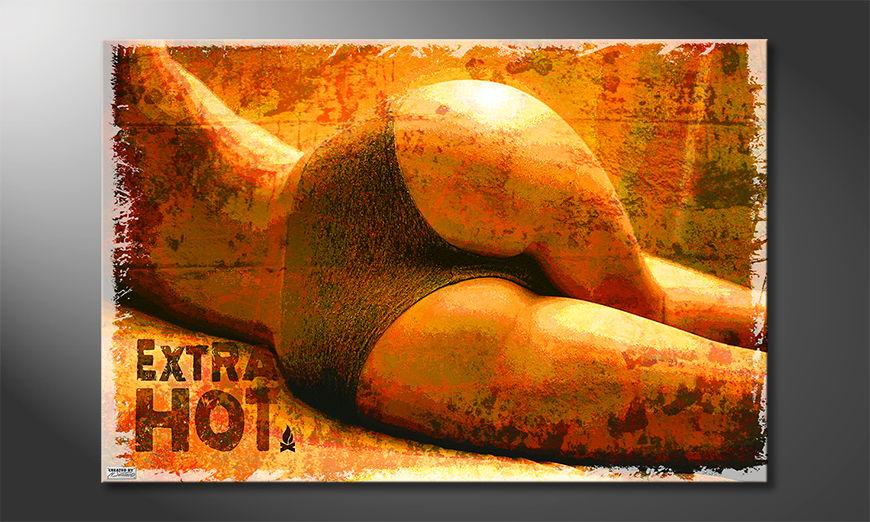 Das erotische Wandbild Extra Hot