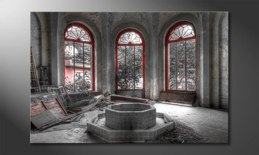 Das exklusive Bild Red Window
