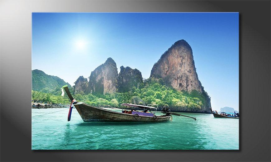 Das gedruckte Bild Boats in Bay
