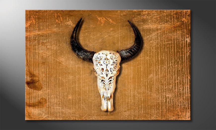 Das gedruckte Bild Buffalo Head