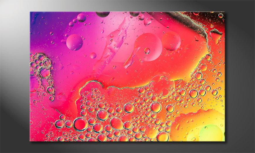 Das gedruckte Bild Colorful Water I