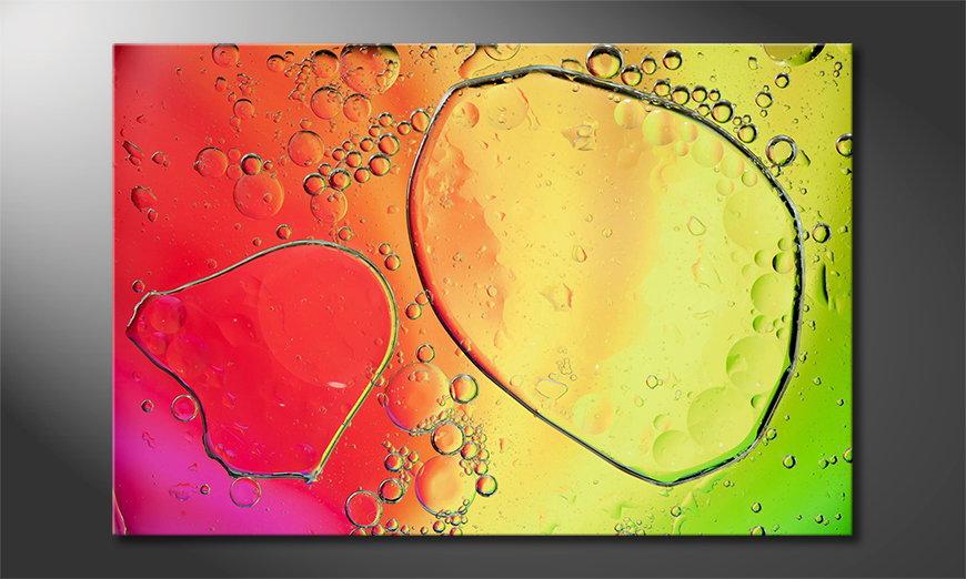 Das gedruckte Bild Colorful Water II