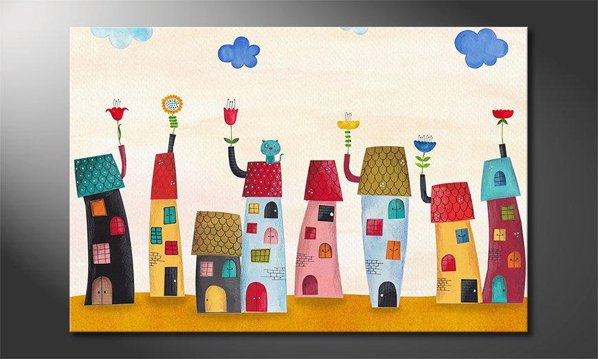 Das gedruckte Bild Fairytale Town